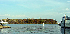 Sugar Island lies to the southeast of Grosse Ile