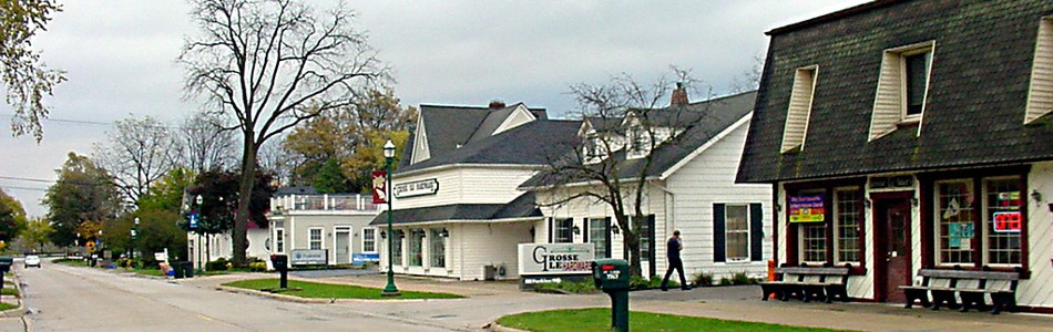 Grosse Ile - East end of Macomb Street